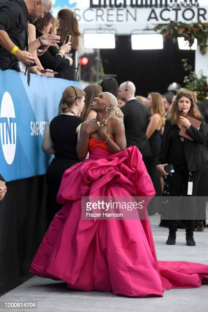 Cynthia Erivo attends the 26th Annual Screen ActorsGuild Awards at The Shrine Auditorium on January 19 2020 in Los Angeles California