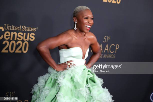 Cynthia Erivo attends the 51st NAACP Image Awards Presented by BET at Pasadena Civic Auditorium on February 22 2020 in Pasadena California