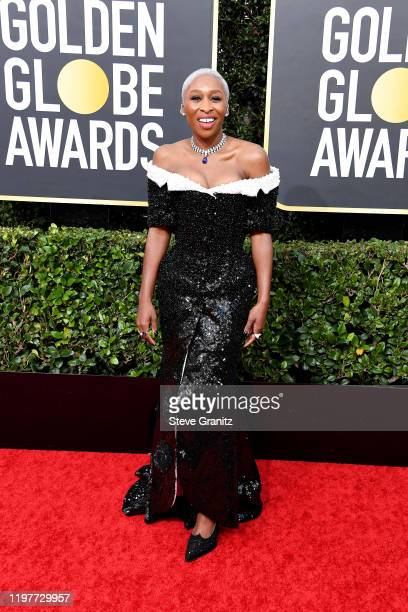 Cynthia Erivo attends the 77th Annual Golden Globe Awards at The Beverly Hilton Hotel on January 05 2020 in Beverly Hills California