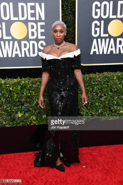 Cynthia Erivo attends the 77th Annual Golden Globe Awards at The Beverly Hilton Hotel on January 05, 2020 in Beverly Hills, California.