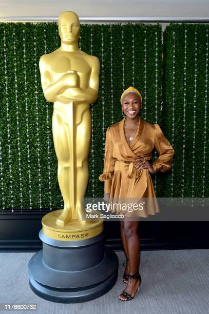 Cynthia Erivo attends the Academy of Motion Picture Arts Sciences' Women's Initiative New York luncheon in partnership with E Entertainment and with...