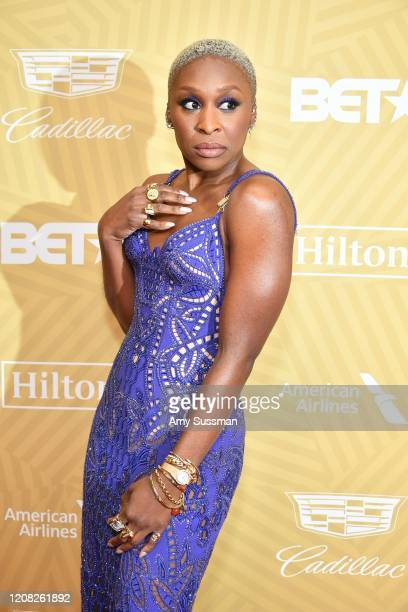 Cynthia Erivo attends the American Black Film Festival Honors Awards Ceremony at The Beverly Hilton Hotel on February 23 2020 in Beverly Hills...