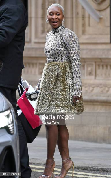 Cynthia Erivo attends the EE British Academy Film Awards 2021 at the Royal Albert Hall on April 11, 2021 in London, England.