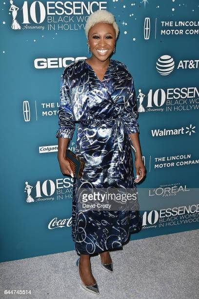 Cynthia Erivo attends the Essence 10th Annual Black Women In Hollywood Awards Gala Arrivals at the Beverly Wilshire Four Seasons Hotel on February 23...