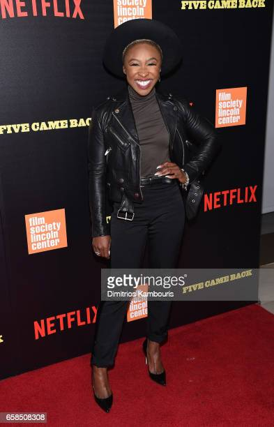 Cynthia Erivo attends the Five Came Back world premiere at Alice Tully Hall at Lincoln Center on March 27 2017 in New York City