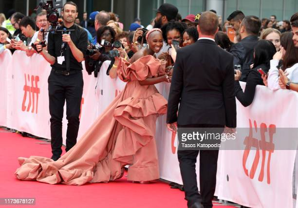 """Cynthia Erivo attends the """"Harriet"""" premiere during the 2019 Toronto International Film Festival at Roy Thomson Hall on September 10, 2019 in..."""