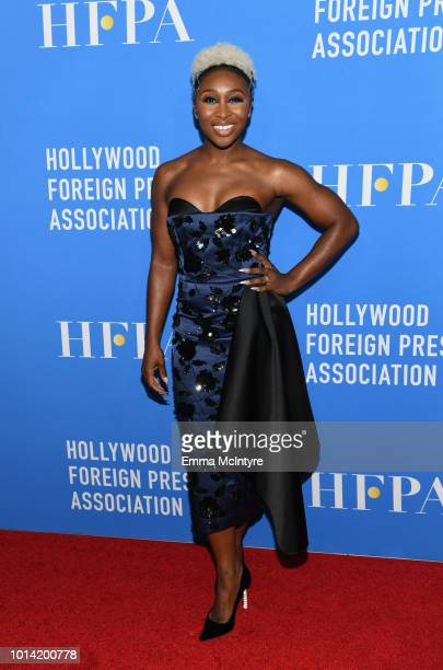 Cynthia Erivo attends the Hollywood Foreign Press Association's Grants Banquet at The Beverly Hilton Hotel on August 9 2018 in Beverly Hills...