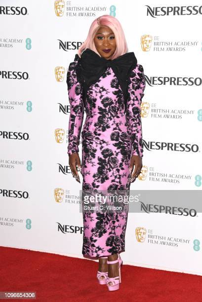 Cynthia Erivo attends the Nespresso British Academy Film Awards nominees party at Kensington Palace on February 9 2019 in London England