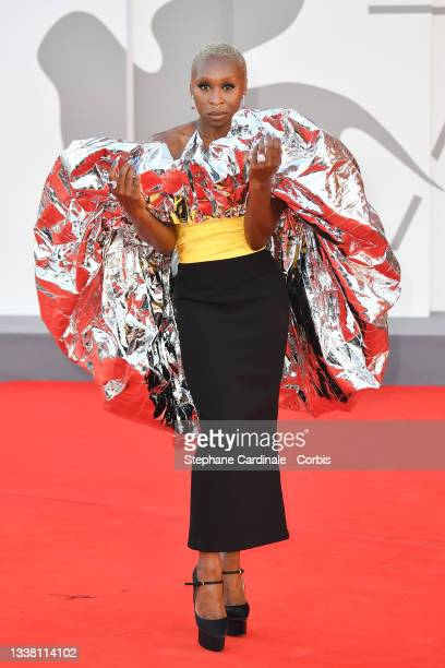 """Cynthia Erivo attends the red carpet of the movie """"Dune"""" during the 78th Venice International Film Festival on September 03, 2021 in Venice, Italy."""