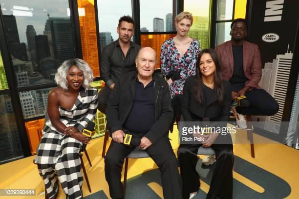 Cynthia Erivo Colin Farrell Robert Duvall Elizabeth Debicki Michelle Rodriguez and Daniel Kaluuya of 'Widows attend The IMDb Studio presented By Land...