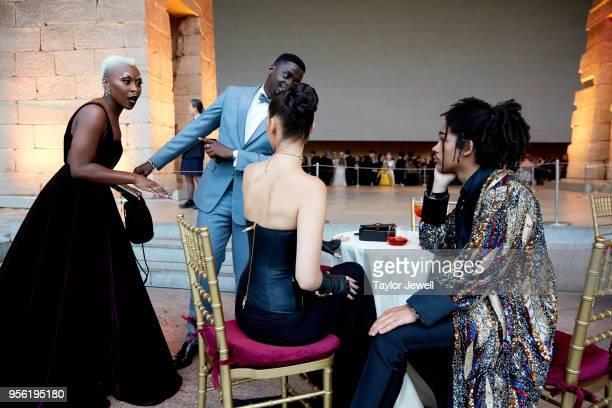 Cynthia Erivo Daniel Kaluuya Bella Hadid and Luka Sabbat attend Heavenly Bodies Fashion The Catholic Imagination Costume Institute Gala at The...