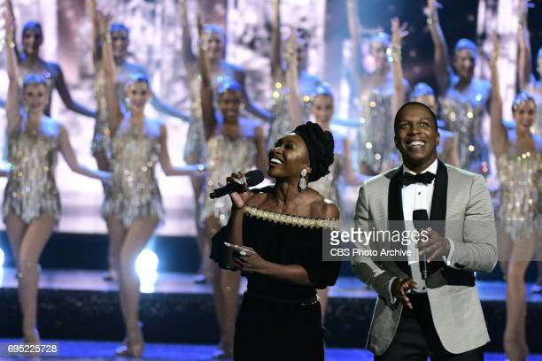 Cynthia Erivo Leslie Odom Jr and the Radio City Rockettes at THE 71st ANNUAL TONY AWARDS broadcast live from Radio City Music Hall in New York City...