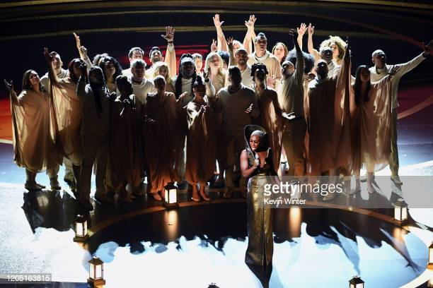 Cynthia Erivo performs onstage during the 92nd Annual Academy Awards at Dolby Theatre on February 09, 2020 in Hollywood, California.