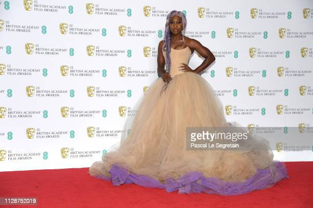 Cynthia Erivo poses in the press room during the EE British Academy Film Awards at Royal Albert Hall on February 10 2019 in London England