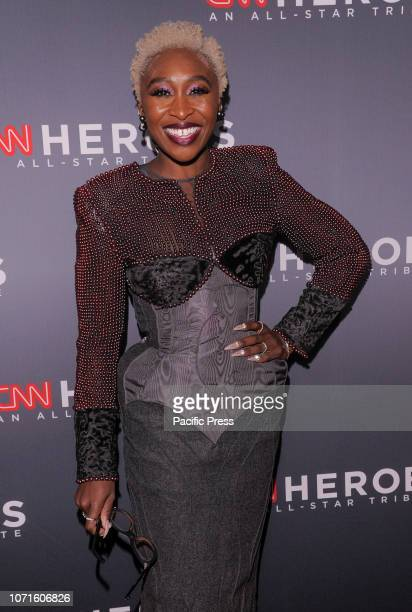 Cynthia Erivo wearing dress by Thom Browne attends the 12th Annual CNN Heroes An AllStar Tribute at American Museum of Natural History