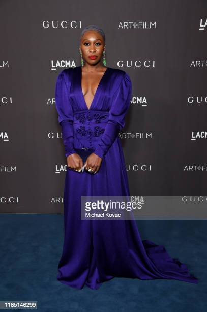 Cynthia Erivo wearing Gucci attends the 2019 LACMA Art Film Gala Presented By Gucci at LACMA on November 02 2019 in Los Angeles California