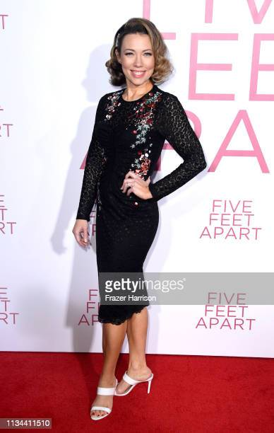 Cynthia Evans attends the Premiere Of Lionsgate's Five Feet Apart at Fox Bruin Theatre on March 07 2019 in Los Angeles California