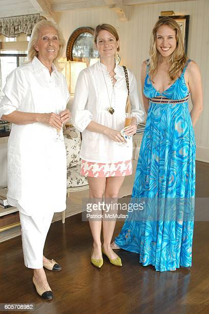 Cynthia Frank Ruth Caldwell and Alison Brokaw attend Carlos Souza Jewelry Preview Party at Southampton on July 22 2006