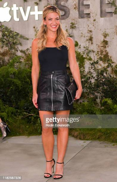 Cynthia Frelund attends the World Premiere of Apple TV's See at Fox Village Theater on October 21 2019 in Los Angeles California