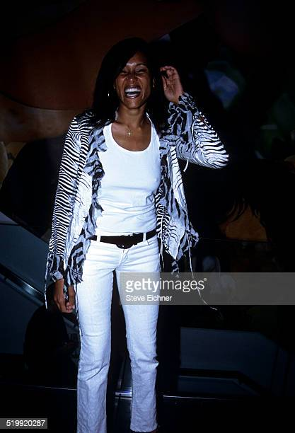 Cynthia Garrett at Hugo Boss store opening New York May 8 2001