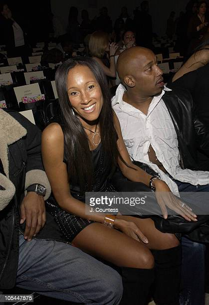 Cynthia Garrett during Olympus Fashion Week Fall 2005 Baby Phat Front Row and Backstage at Skylight Studios in New York City New York United States