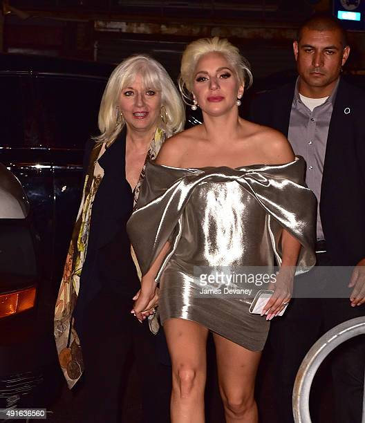 Cynthia Germanotta and Lady Gaga attend The Pomeroy restaurant opening in Astoria Queens on October 6 2015 in New York City
