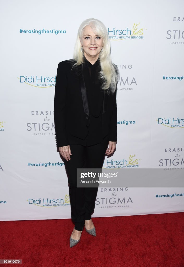 Cynthia Germanotta arrives at the Didi Hirsch Mental Health Services' 2018 Erasing The Stigma Leadership Awards at The Beverly Hilton Hotel on April 26, 2018 in Beverly Hills, California.