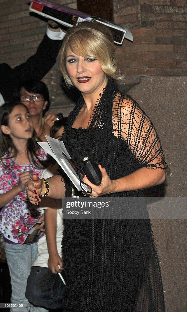 Cynthia Germanotta, mother of Lady Gaga seen leaving the Almay Concert to celebrate the Rainforest Fund's 21st birthday at Carnegie Hall in Manhattan on May 13, 2010 in New York City.