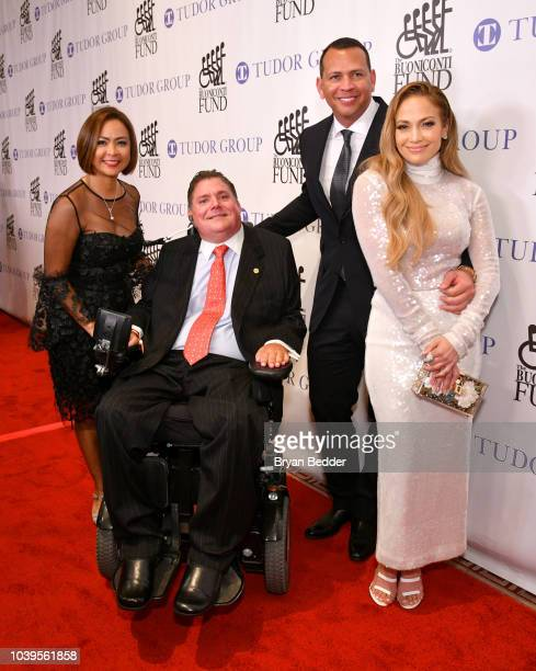 Cynthia Halelamien, Marc Buoniconti, Alex Rodriguez, and Jennifer Lopez attend the 33rd Annual Great Sports Legends Dinner, which raised millions of...