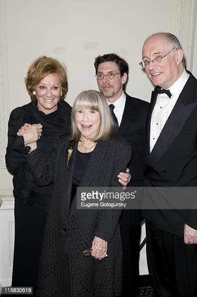 Cynthia Harris Julia Harris and Scott Allan Evans attend the 15th annual The Actor's Company Theater Crystal Gala honoring Julie Harris on March 3...