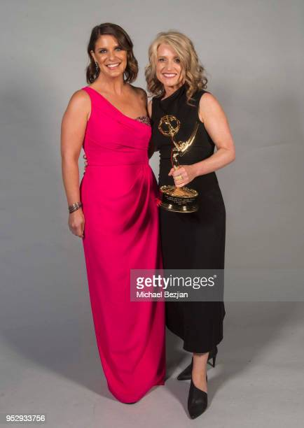 Cynthia Hill and Vivian Howard pose for portrait at 45th Daytime Emmy Awards Portraits by The Artists Project Sponsored by the Visual Snow Initiative...