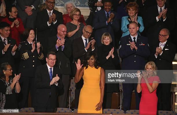 Cynthia K Davis of Las Vegas NV Gov Dannel P Malloy of Connecticut first lady Michelle Obama and Wife of US Vice President Joe Biden Dr Jill Biden...