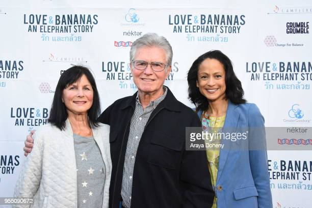 Cynthia Lee Doty Kent McCord and AnneMarie Johnson attend the Love Bananas An Elephant Story Los Angeles premiere at Laemmle Music Hall on May 4 2018...