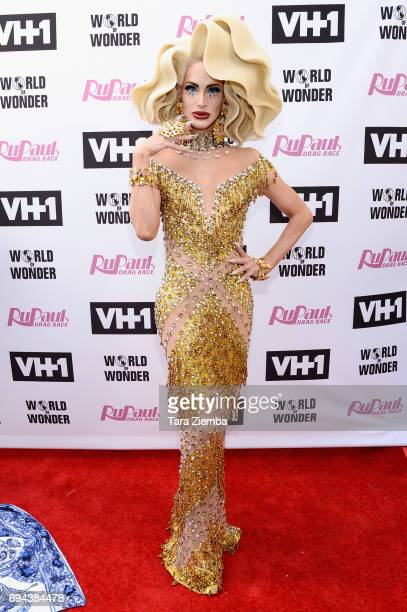 Cynthia Lee Fontaine arrives at 'RuPaul's Drag Race' Season 9 Finale Taping at Alex Theatre on June 9 2017 in Glendale California