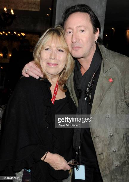 Cynthia Lennon and Julian Lennon attend an after party following the Prince's Trust Rock Gala 2011 at Baglioni Hotel on November 23 2011 in London...