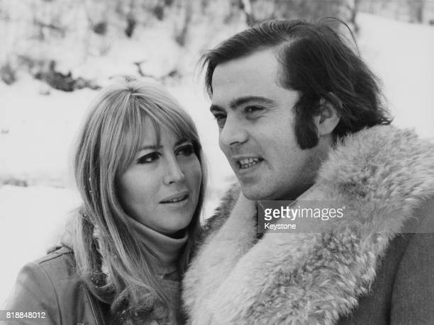 Cynthia Lennon the first wife of John Lennon of the Beatles with her partner hotelier Roberto Bassanini at Pescasseroli in Italy 23rd February 1969