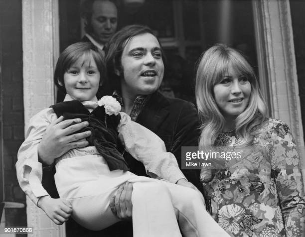 Cynthia Lennon the former wife of Beatle John Lennon and Italian hotelier Robert Bassanini after their wedding at Kensington Register Office in...