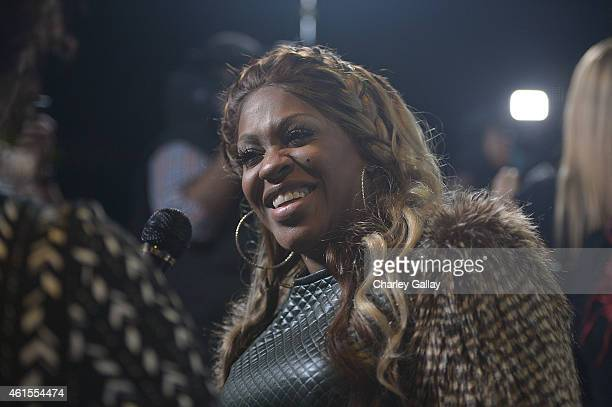 Cynthia Lil Mo Loving arrives at Celebration Of Life With TV One's RB Divas LA at House of Blues Sunset Strip on January 14 2015 in West Hollywood...