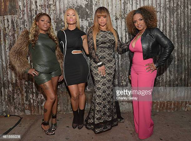 Cynthia Lil Mo Loving Christina Brave Williams Stacy Francis and Leela James arrive at Celebration Of Life With TV One's RB Divas LA at House of...