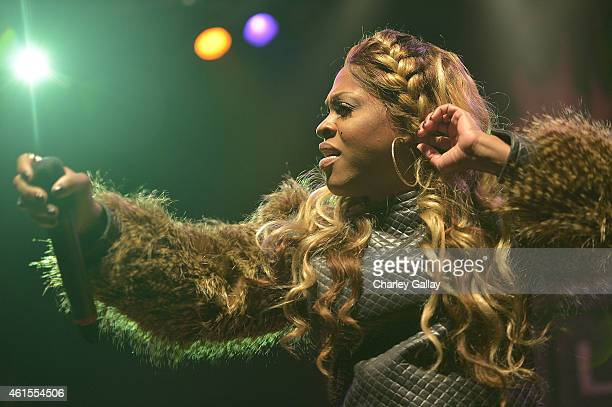 Cynthia Lil Mo Loving performs at Celebration Of Life With TV One's RB Divas LA at House of Blues Sunset Strip on January 14 2015 in West Hollywood...