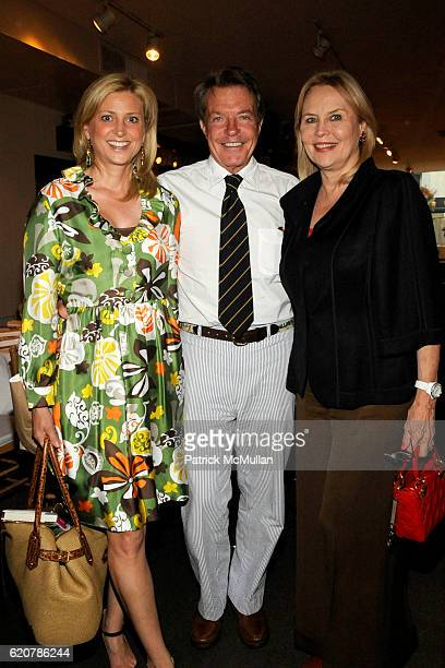 "Cynthia Lufkin, Dan Lufkin and Cornelia Sharpe Bregman attend ""PARTY FAVORS"" by Nicole Sexton Book Release Party at Michael's on July 29, 2008 in New..."