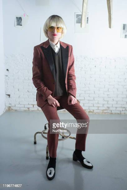 Cynthia Lumb posa durente la presentacion de la colecion García Madrid destro de la MercedesBenz Fashion Week Madrid on January 27 2020 in Madrid...