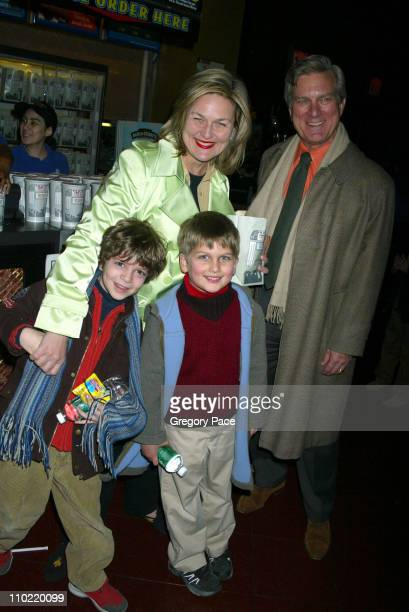 Cynthia McFadden and James Hoge with their son Spencer Hoge and his friend Luca Silveria