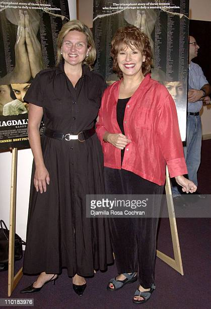 Cynthia McFadden and Joy Behar during The Magdalene Sisters's Screening at Lighthouse International in New York City New York United States