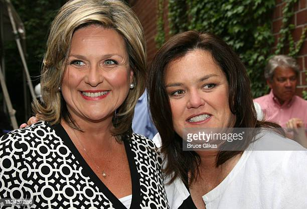 Cynthia McFadden and Rosie O'Donnell during Rosie's Broadway Kids Hard Hat Party at Maravel Arts Center in New York NY United States