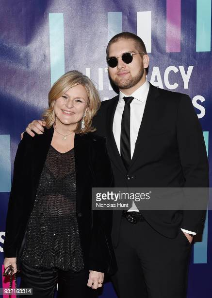 Cynthia McFadden and Spencer McFadden attends the 2018 Literacy Partners Gala at Cipriani Wall Street on March 14 2018 in New York City