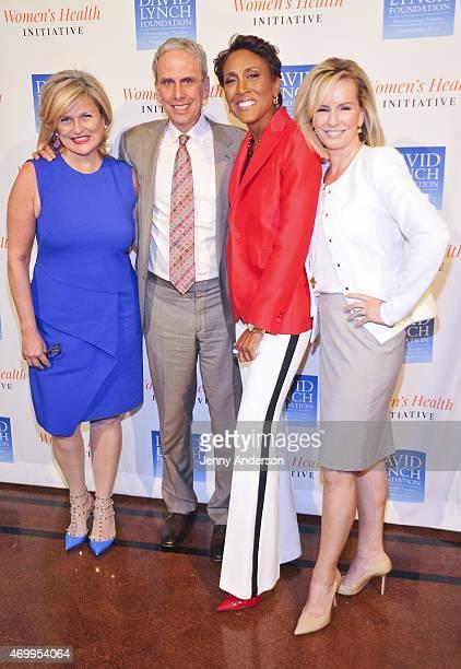 Cynthia McFadden Bob Roth Robin Roberts and Dr Jennifer Ashton attend 'David Lynch Foundation' Women Meditation WorkLife Balance Luncheon at 583 Park...