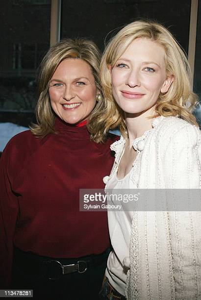 """Cynthia McFadden, Cate Blanchett during Cate Blanchett Honored for """"The Aviator"""" at Private Luncheon Hosted by Miramax at Michael's, 24 West 55th St...."""