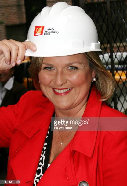 Cynthia McFadden during Rosie's Broadway Kids Hard Hat Party at Maravel Arts Center in New York NY United States
