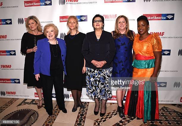 Cynthia McFadden Linda Deutsch Anna Nemtsova Lourdes Ramirez Abigail Disney and Mwape Kumwenda attend the Women's Media Foundation's 2015 Courage in...